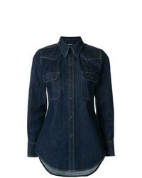 Женская темно-синяя джинсовая рубашка от Calvin Klein 205W39nyc