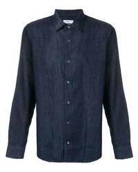 Мужская темно-синяя джинсовая рубашка от Closed