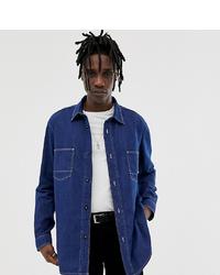 Мужская темно-синяя джинсовая рубашка от Crooked Tongues