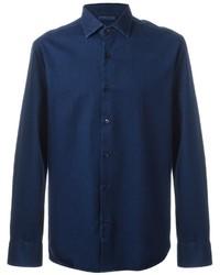 Мужская темно-синяя джинсовая рубашка от Etro