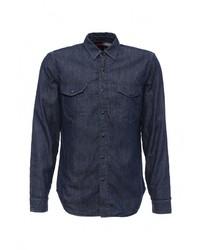 Мужская темно-синяя джинсовая рубашка от Gap