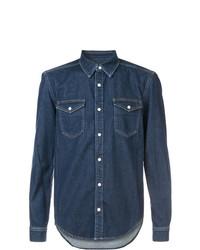 Мужская темно-синяя джинсовая рубашка от Givenchy