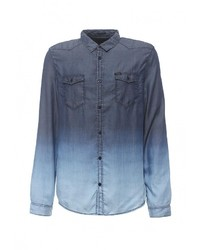 Мужская темно-синяя джинсовая рубашка от Guess Jeans