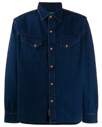 Мужская темно-синяя джинсовая рубашка от Hand Picked