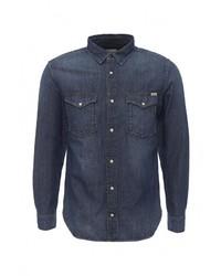 Мужская темно-синяя джинсовая рубашка от Jack & Jones
