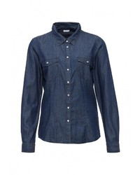 Женская темно-синяя джинсовая рубашка от Jacqueline De Yong