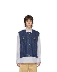 Мужская темно-синяя джинсовая рубашка от Junya Watanabe
