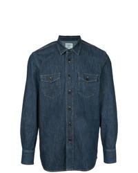 Мужская темно-синяя джинсовая рубашка от Kent & Curwen