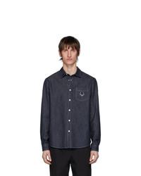 Мужская темно-синяя джинсовая рубашка от Kenzo