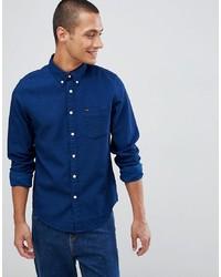Мужская темно-синяя джинсовая рубашка от Lee