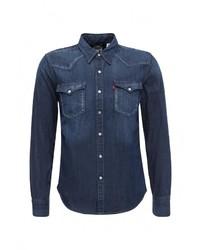Мужская темно-синяя джинсовая рубашка от Levi's