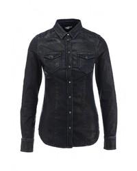 Женская темно-синяя джинсовая рубашка от Liu Jo Jeans