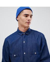 Мужская темно-синяя джинсовая рубашка от Noak