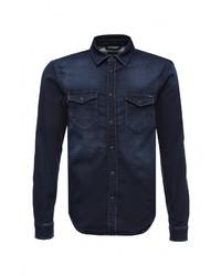 Мужская темно-синяя джинсовая рубашка от Pepe Jeans