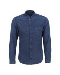 Мужская темно-синяя джинсовая рубашка от s.Oliver Denim
