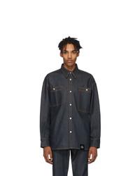 Мужская темно-синяя джинсовая рубашка от S.R. STUDIO. LA. CA.