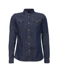 Мужская темно-синяя джинсовая рубашка от Scotch&Soda