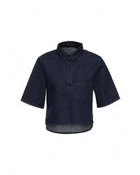 Женская темно-синяя джинсовая рубашка от The Fifth