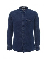 Мужская темно-синяя джинсовая рубашка от Tommy Hilfiger Denim