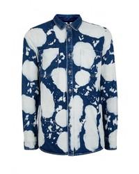 Мужская темно-синяя джинсовая рубашка от Topman