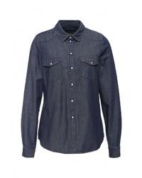 Женская темно-синяя джинсовая рубашка от Vero Moda