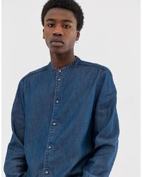 Мужская темно-синяя джинсовая рубашка от Weekday