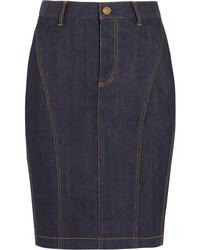 Темно-синяя джинсовая юбка-карандаш от Burberry