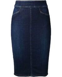 Темно-синяя джинсовая юбка-карандаш от Citizens of Humanity