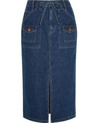 Темно-синяя джинсовая юбка-карандаш от Madewell