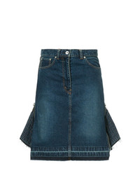 Темно-синяя джинсовая юбка-карандаш от Sacai