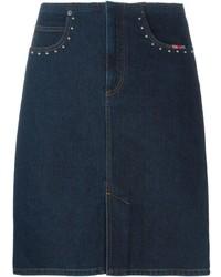 Темно-синяя джинсовая юбка-карандаш от Sonia Rykiel