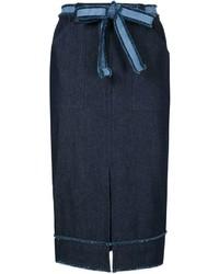 Темно-синяя джинсовая юбка-карандаш от Timo Weiland