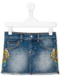 Детская темно-синяя джинсовая юбка для девочке