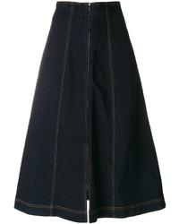 Темно-синяя джинсовая юбка от Fendi