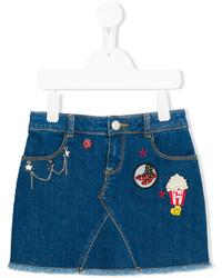 Детская темно-синяя джинсовая юбка для девочке от Little Marc Jacobs