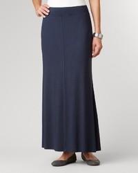 Темно-синяя длинная юбка