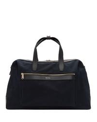 Мужская темно-синяя дорожная сумка из плотной ткани от Paul Smith