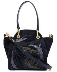 Женская темно-синяя замшевая большая сумка от Maiyet