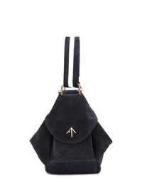 Женская темно-синяя замшевая большая сумка от Manu Atelier
