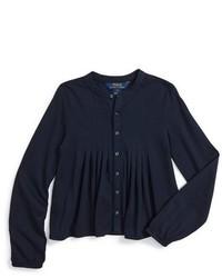 Темно-синяя классическая рубашка