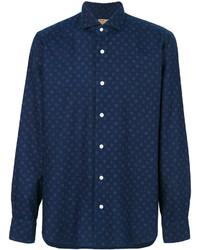 Мужская темно-синяя классическая рубашка от Barba