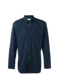 Мужская темно-синяя классическая рубашка от Comme Des Garcons SHIRT