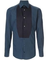 Мужская темно-синяя классическая рубашка от Dolce & Gabbana