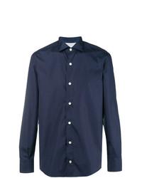 Мужская темно-синяя классическая рубашка от Eleventy