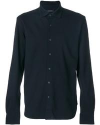 Мужская темно-синяя классическая рубашка от Ermenegildo Zegna