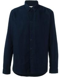 Мужская темно-синяя классическая рубашка от Folk