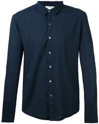 Мужская темно-синяя классическая рубашка от James Perse
