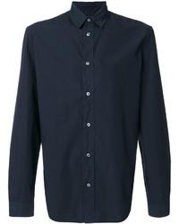 Мужская темно-синяя классическая рубашка от Maison Margiela