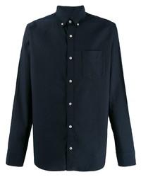 Мужская темно-синяя классическая рубашка от Nn07