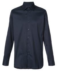 Мужская темно-синяя классическая рубашка от Prada